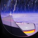stratrails from airplane,                                Amir H. Abolfath
