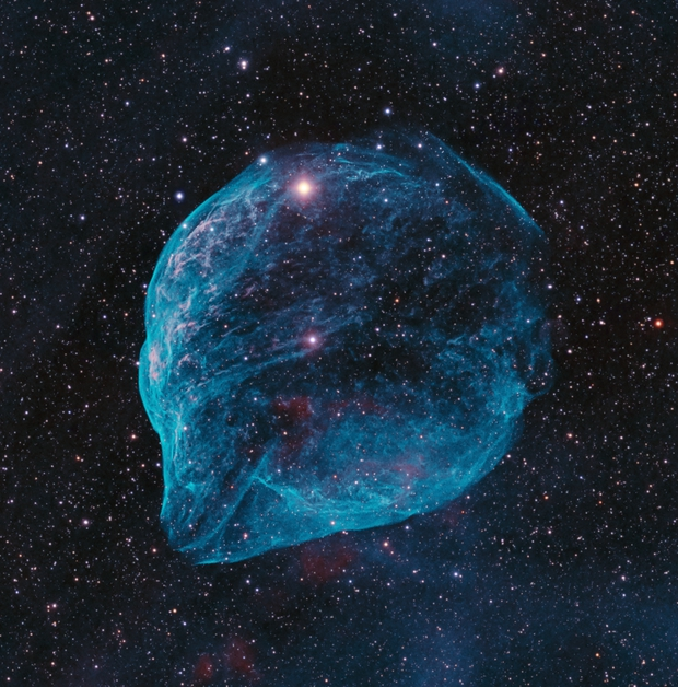 SH2-308 - The Dolphin Nebula (HOO RGB stars),                                Janco