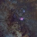 M8 M20 Trifid and Lagoon,                                msmythers