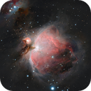 M42 Nebula, mainly the central part, a color image, CPH, Denmark,                                Niels V. Christensen