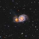 Messier 51, Whirlpool galaxy and friend.  HaLRGB,                                Iñigo Gamarra