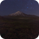 Cassiopeia Constellation Over The Majestic Mount Damavand!,                                Mohammad Nouroozi