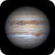 Jupiter with Europa, its shadow, the Oval BA and GRS in transit,                                Niall MacNeill