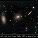 NGC 5985, 5982, 5981, Draco Triplet, OSC, 31 May-1 Jun 2016,                                David Dearden
