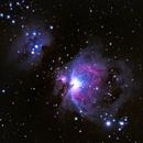 M42 - Orion Nebula with S279 - Running Man Nebula,                                Mike Ingalls