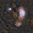 M8 Lagoon Nebula - M20 Trifid Nebula 20210711 31650s LHORGB 01.2.3,                                Allan Alaoui