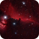 Barnard 33 - The Horsehead Nebula in emission nebula IC 434 - HaRGB,                                gigiastro