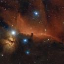 Horsehead Nebula and Flame Nebula,                                SJ Richard