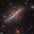 Messier 82 (Cigar Galaxy) @ DSW,                                  Miles Zhou