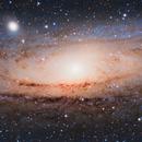 M31 (Andromeda Galaxy) - 3-Panel Mosaic,                                blastrophoto