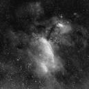 Prawn Nebula IC4628 (H-alpha Only - Single Exposed),                                William Tan