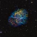 M1 - Crab Nebula, Hubble Palette,                                Ron