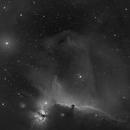IC434 / NGC2024 - Horsehead and Flame Nebula in Ha,                                equinoxx
