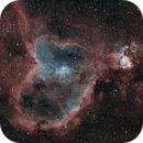 IC 1805 Heart nebula in HaOiii OSC,                                Emile Charpentier