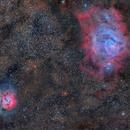 M 8 The Lagoon Nebula & M 20 The Trifid Nebula ,                                Txema Asensio