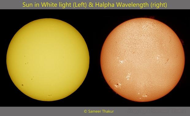 Sun in two views,                                thakursam