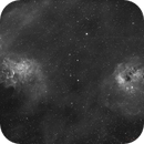 IC405 and IC410 in H-a,                                Marcel Drechsler