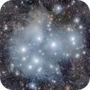 Processed Pleiades Cluster (Messier 45) from Public Data Pool,                                Miles Zhou