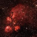 NGC6334 - Gum62/63/64 - Cat's Paw or Bear Claw Nebula in Scorpius ,                                Geoff Scott