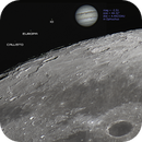 Jupiter, Saturn, Moon to-Scale,                                astropical
