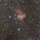 Nebulosa Wizard  SH2-142 con ammasso aperto NGC 7380,                                antoniogiudici