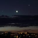 Conjunction of Venus, Moon and Jupiter,                                Rodney Watters