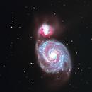 M51 The Whirlpool Galaxy,                                @maddie_astro