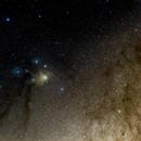 Rho Ophiuchi cloud complex - wide field,                                Mateus