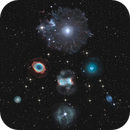 Firework of planetary nebulas in a christmas tree.,                                Jeffbax Velocicaptor
