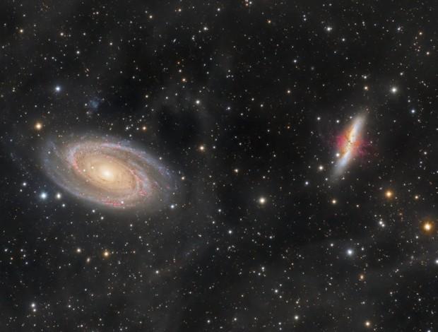 M81&M82-galaxies de Bode et du cigare,                                astromat89