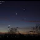 Moon, Venus, Spica & Mercury, Canon EOS 6D Mk2, 20201113,                                Geert Vandenbulcke
