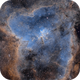 IC1805 - Heart Nebula in SHO (3 data sets),                                Richard Bratt