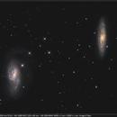 M 65 - M 66 couple de galaxies dans le Lion,                                Jeffbax Velocicaptor