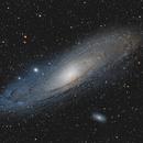 La Galaxie d'Andromède et la Supernova AT 2020yye,                                astrodoud