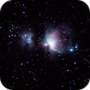 Orion Nebula - M42 - Cheap Light Pollution Filter,                                Fabio