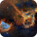 Heart and Soul Nebula, IC1805 and IC1848, Hubble Palette,                                Eric Coles (coles44)