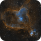 Heart nebula - IC 1805,                                skyborg