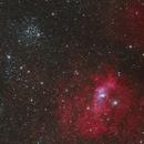The Bubble Nebula and Messier 52,                                Toshiya Arai