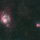 Summertime Beauties at Cherry Springs Star Party- M8 Lagoon Nebula + M20 Trifid Nebula,                                Cosmos Safari - Dave Farina