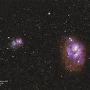 Trifid Nebula (M20) / Lagoon Nebula (M8),                                Leandro Fornaziero