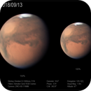 Mars from Chilescope, 13 September 2018,                                Dzmitry Kananovich