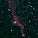 NGC 6960 (Western Veil Nebula) -- Nikon D5300 & 200 mm Telephoto lens,                                Nick Large