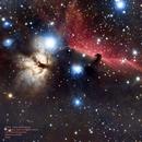 Alnitak environment: Flame and Horse head nebulae,                                Francisco Jose Corregidor
