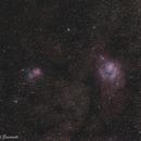 Trifid and Lagoon Nebulas,                                Cristian Stancu