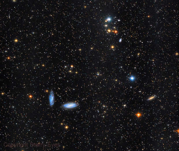 NGC 672 & Other Galaxies in Triangulum,                                PJ Mahany