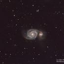 M51 La galaxie du tourbillon,                                nunux1971