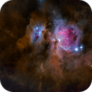 Orion & Running Man Nebulae in dust (starless version),                                Rudy Pohl