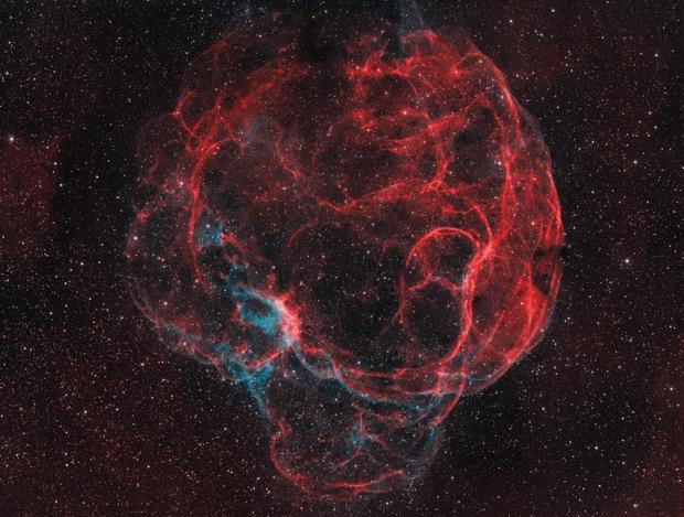 Simeis 147 / sh2-240 / Spaghetti Nebula (HaO3RGB),                                Nico Carver