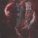 Veil Nebula in Narrowband Bicolour Palette,                                Kayron Mercieca