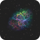 M1 - The crab nebula - visualized in 3 different ways.,                                Benny Colyn